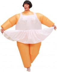 Aufblasbares Ballerina-Kostüm für Erwachsene