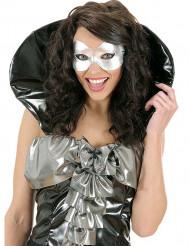 Silberne Halbmaske