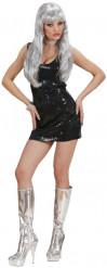 Schwarzes Disco-Kleid für Damen