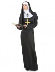 Nonnen-Damenkostüm schwarz-weiss
