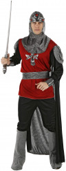 Herrenkostüm Ritter in Rot und Schwarz