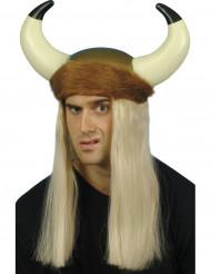 Wikingerhelm mit Blonden Haaren für Erwachsene