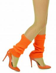 Orangefarbene Stulpen