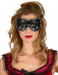 Schwarz-goldene Halbmaske