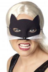Halbmaske schwarze Katze