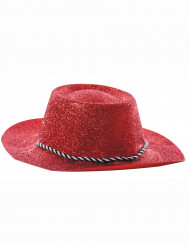 Roter Cowgirlhut mit Pailletten