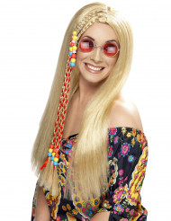 Hippie-Perücke blond für Damen