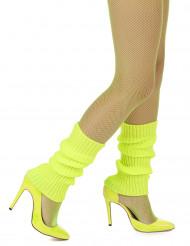 Stulpen knallgelb Neon für Damen
