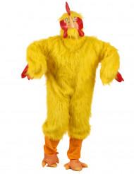 Hühner-Kostüm gelb für Erwachsene