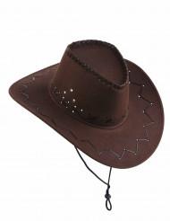 Cowboyhut Kostüm-Accessoire für Erwachsene braun