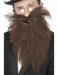 Langer brauner Bart für Herren