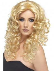 Damenperücke blond gelockt