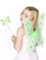 Set grüner Schmetterling für Mädchen