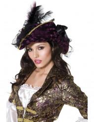 Lila Piratenhut für Damen