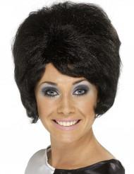 Schwarze Perücke Beehive-Frisur für Damen