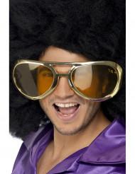 Riesengroße goldene Brille für Erwachsene