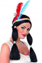 Perücke indianische Prinzessin für Damen
