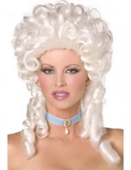 Weiße Barock-Perücke für Damen