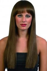 Lange braune Perücke für Damen