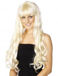 Lange blonde Perücke für Damen