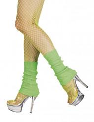 Grüne Stulpen Neon für Damen