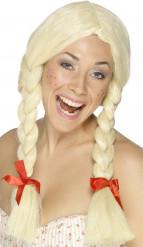 Schülerinnen-Perücke für Damen blond-rot
