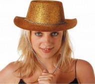Goldener Cowgirlhut mit Pailletten