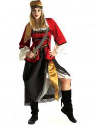 Piratenbraut-Luxuskostüm für Damen bunt