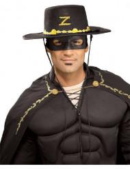 Zorro™-Hut + -Maske für Erwachsene