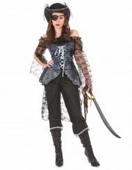 Piratenkapitäns-Kostüm für Damen