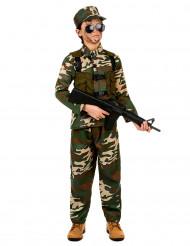 Soldaten-Kostüm für Jungen grün-braun-beige