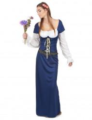 Bayerin Kostüm Mittelalter für Damen dunkelblau