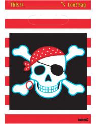 Geschenktüte mit Piratenmotiv Geburtstag 8 Stück bunt