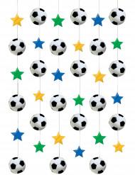 Fußball Hänge-Deko bunt