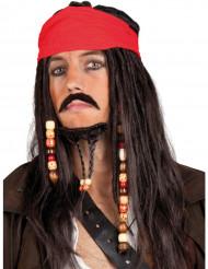 Captain Jack Piratenperücke für Herren bunt