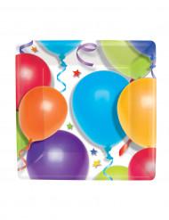 Quadratische Mini-Teller Luftballons