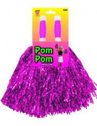 Pompon Fan pink-glänzend