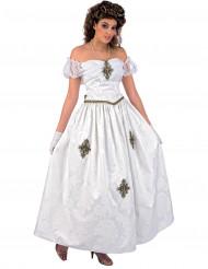 Kaiserinnnen-Kostüm für Damen weiß