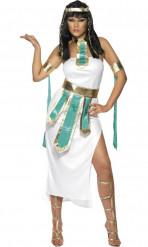 Ägyptische Königin Kostüm für Damen weiß türkis gold