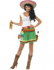 Mexikanisches Kellnerin-Kostüm für Damen