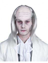 Perücke Zombie mit hoher Stirn für Herren weiß