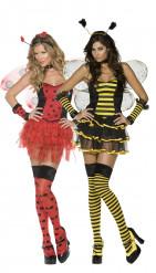 Bienen und Marienkäfer-Paarkostüm für Damen