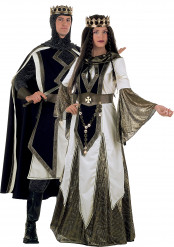 Mittelalterliches Königinnen und Kreuzritter-Kostüm Delux