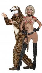 Dompteurin- und Tigerkostüm für Paare