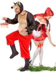 Rotkäppchen und der böse Wolf Kostüm für Paare