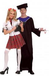 Diplomierte Stundenten-Kostüm für Paare