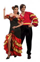 Flamencotänzer-Kostüm für Paare