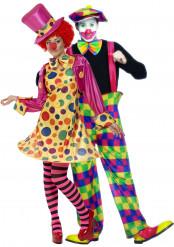 Clownskostüm für Paare
