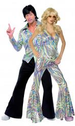 Promi Disco-Kostüme für Paare bunt