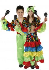 Rumbatänzer-Paarkostüm für Kinder
